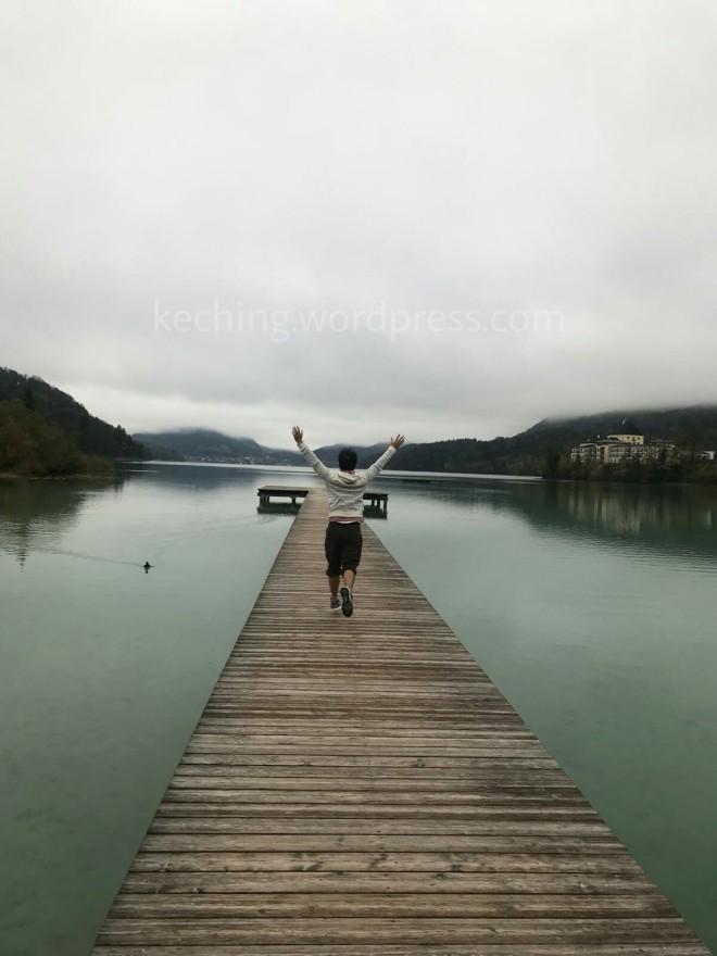 lake fuschl wooden pier