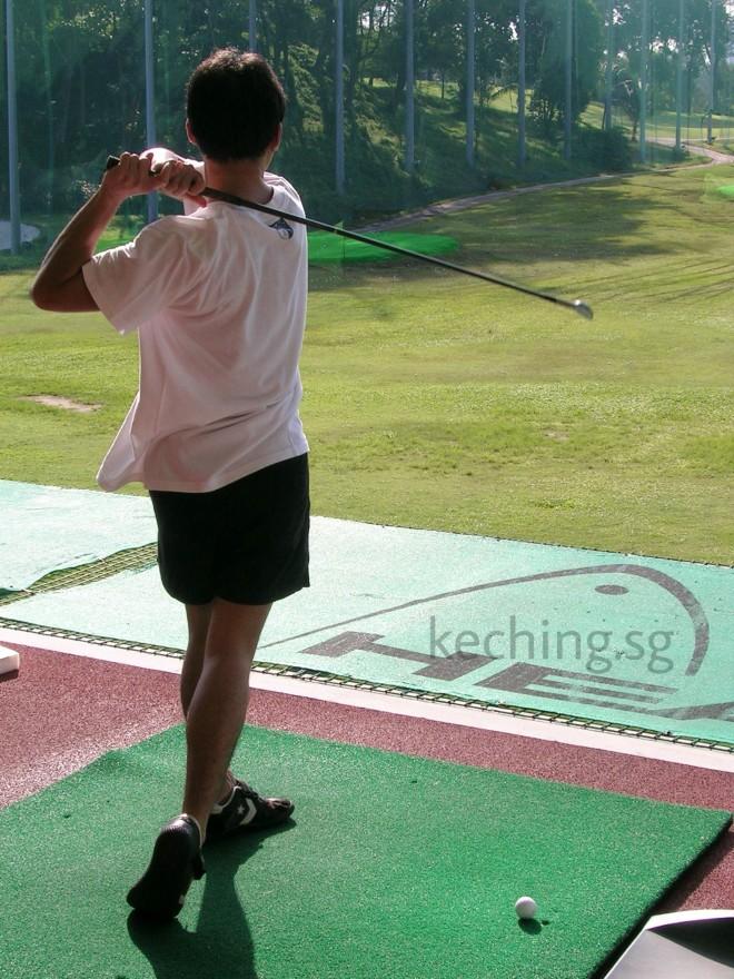 missed golf swing