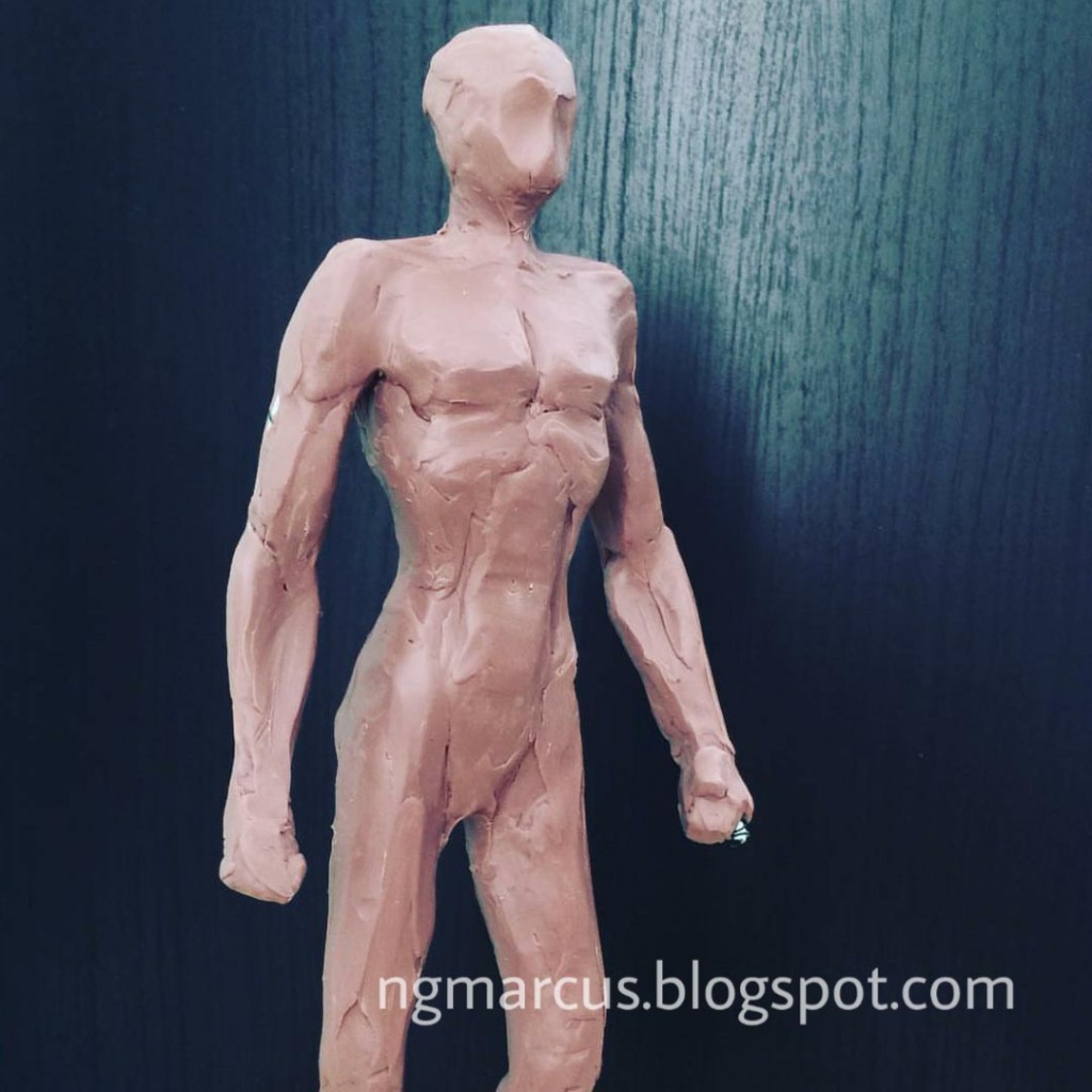 clay sculpting human body