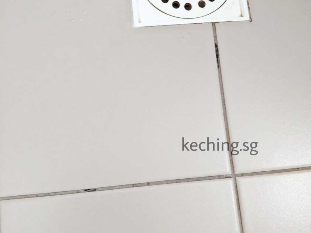 tile grout sinking