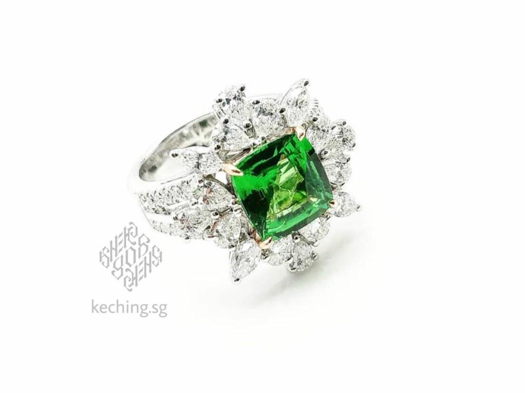non diamond engagement ring singapore