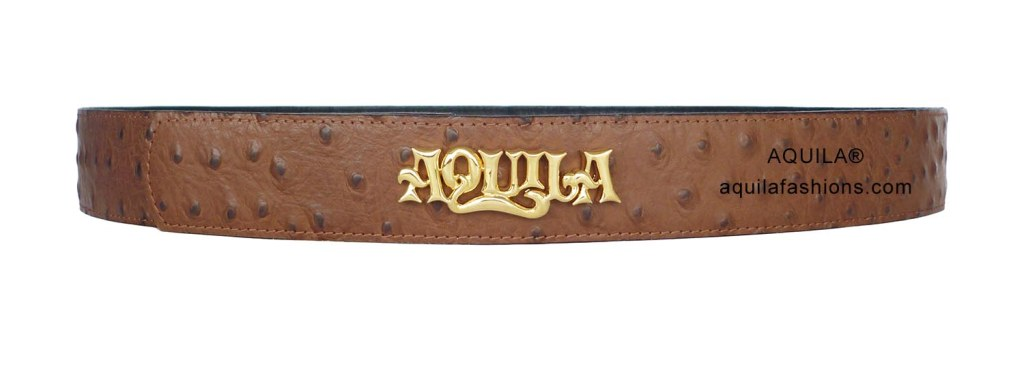 aquila leather belt