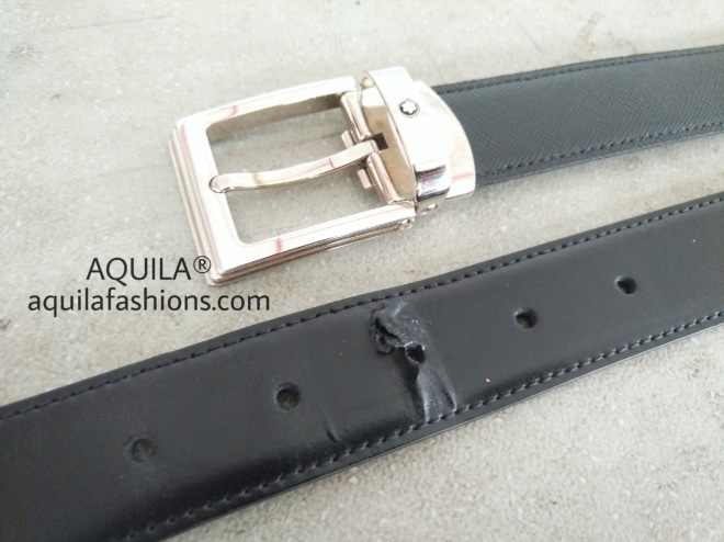 mont blanc leather belt replacement