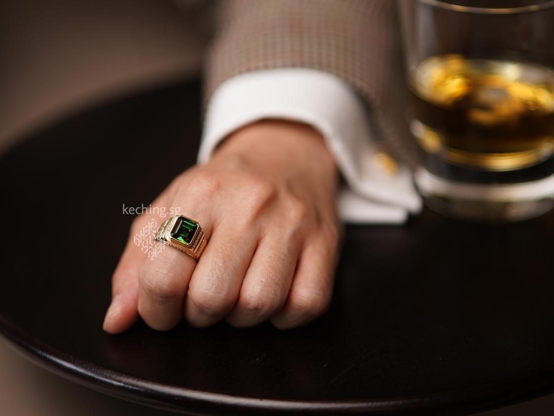 mens gemstone rings singapore